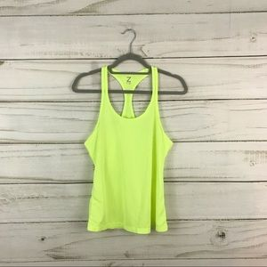 Z by Zella Highlighter Lime Green Tank Top Size S